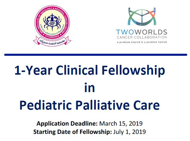 Clinical Fellowship in Pediatric Palliative Medicine: Apply before March 15, 2019