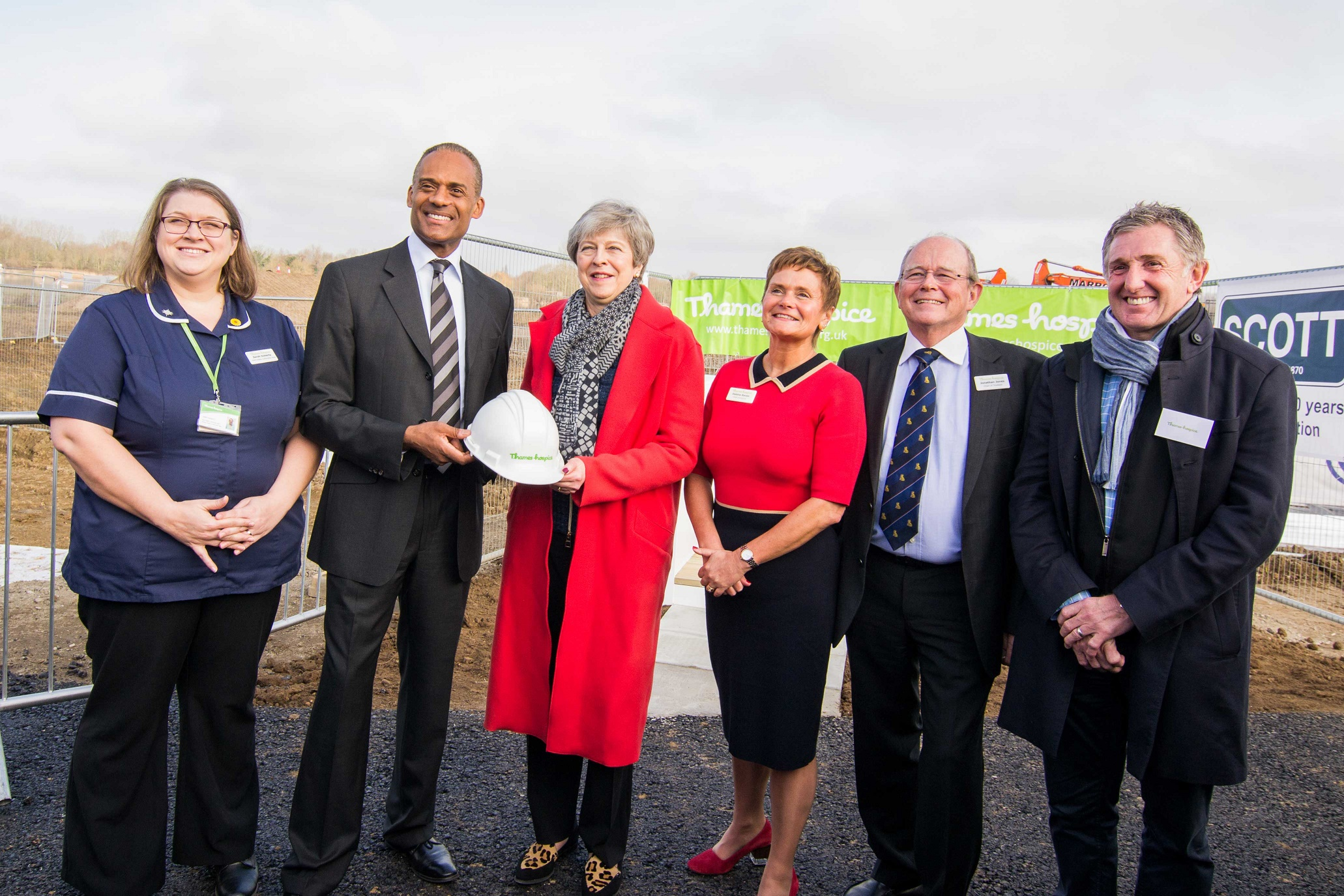 Prime Minister Theresa May attends ceremony for new hospice site
