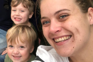 Kjersti and her boys for ehospice