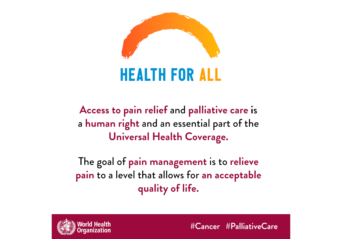 WHO releases new guidelines for management of cancer pain in adults and adolescents