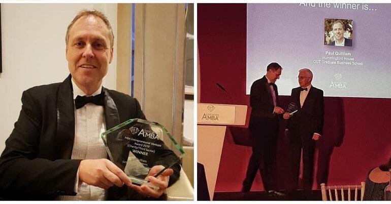 Global MBA entrepreneurial venture award for co-founder of Hummingbird House