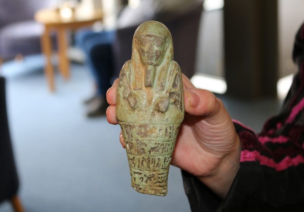 Ancient Egyptian figurine wins most unusual item at Hospice UK's retail awards
