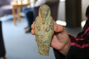 10-05-18 Ancient Egyptian figurine wins most unusual item at Hospice UK's retail awards