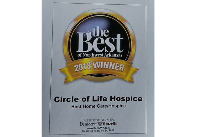 Circle of Life Hospice honored by Democrat Gazette