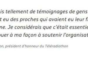 Luc Dion, président d'honneur du Téléradiothon  Article par François Robert pour ICI Côte-Nord