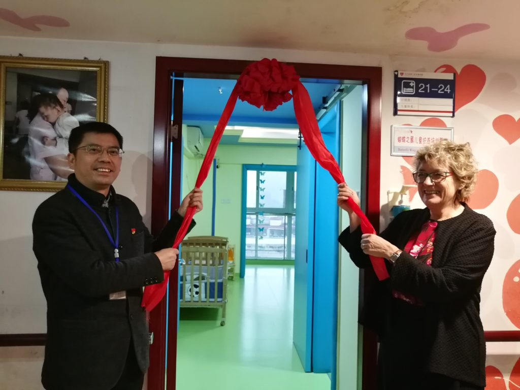 New 'Butterfly Wing' opens on medical floor of orphanage in Changsha, China