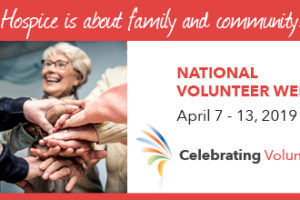 Celebrating hospice volunteers.