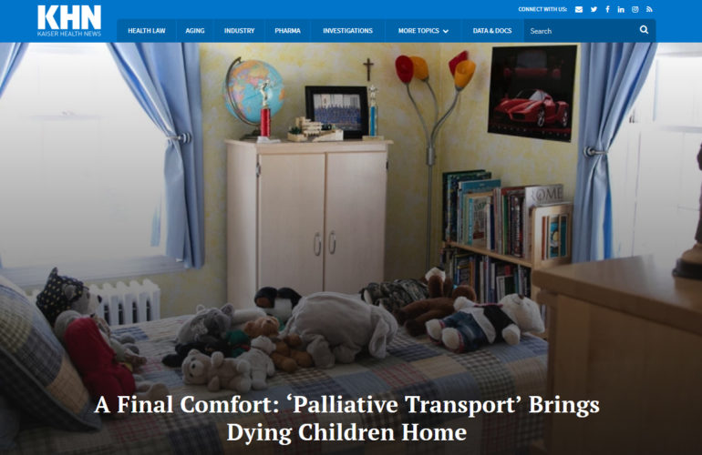 A Final Comfort: 'Palliative Transport' Brings Dying Children Home