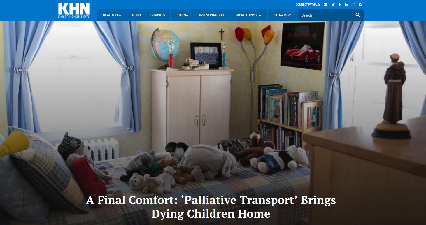 A Final Comfort: 'Palliative Transport' Brings Dying Children Home