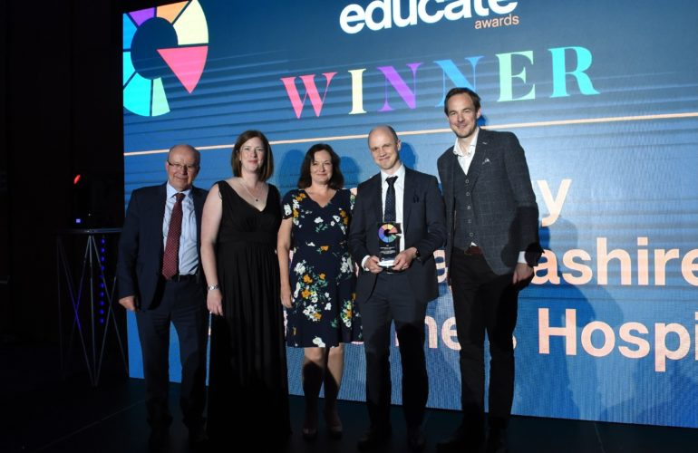 Hospice and university partnership scoop education award