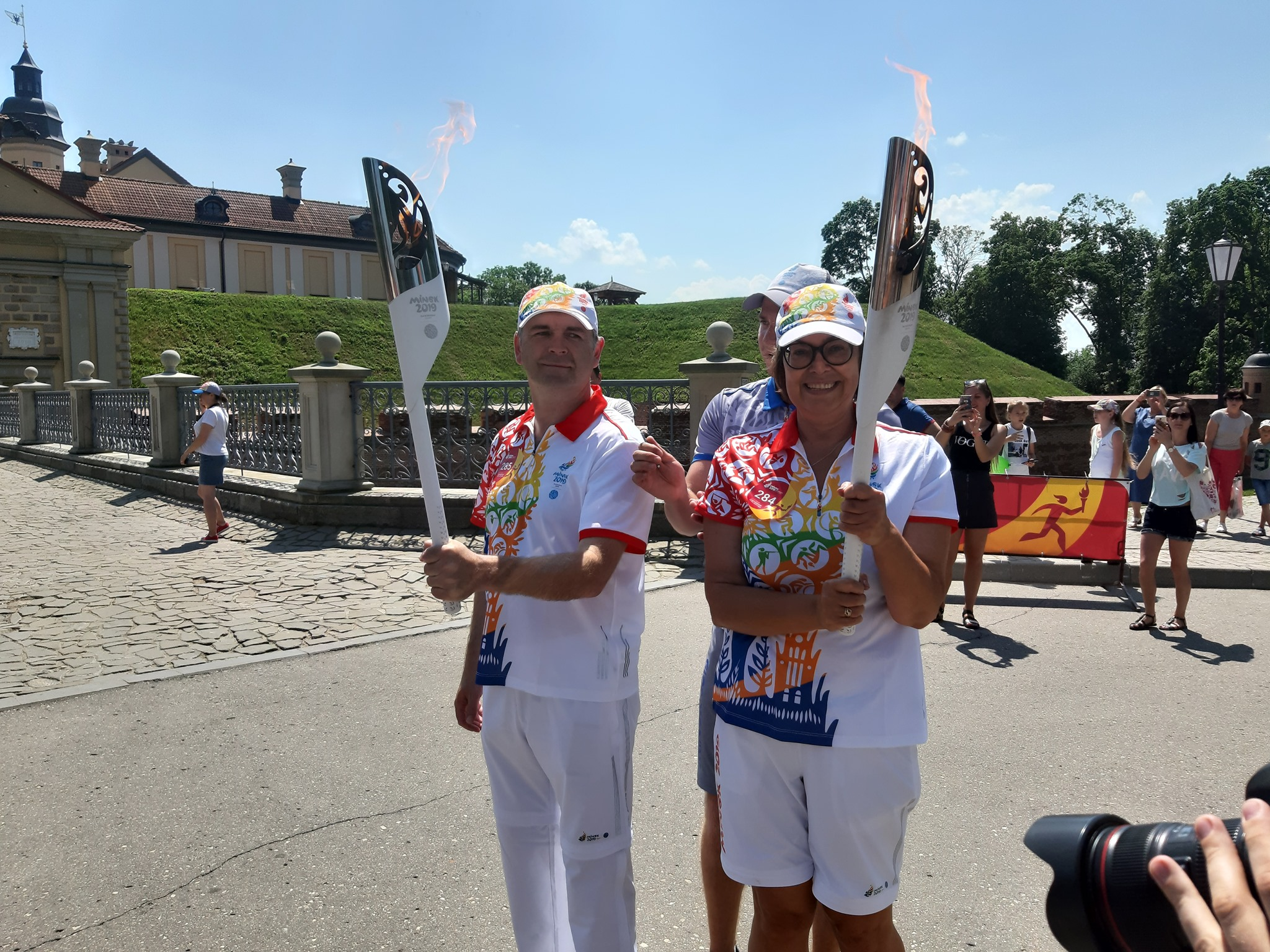 Belarusian Children's Hospice Director carries Flame of Peace for the 2nd European Games in Minsk