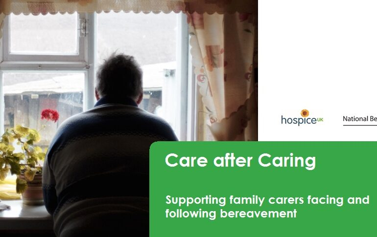 New report launches to support family carers facing bereavement