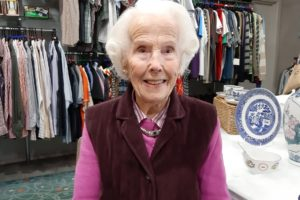 Dorothy Barnett who volunteers at the St Richards Hospice shop in Evesham