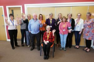 HelenWarrington with family support and bereavement volunteers