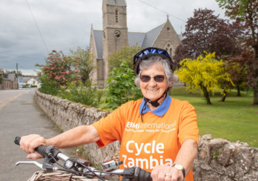 Methlick, Aberdeenshire , Scotland, Saturday, 1 June  2019    Evelyn Cook (pictured) is appealing for people to join in on her bike ride in Methlick, either 12.5 or 25 miles. The event is to raise funds for Evelyn's trip to Zambia, where she will take part in another bike ride to raise funds for the cancer disease hospital in Lusaka as part of her volunteer work with the Edinburgh Medical Missionary Society.  Picture by Abermedia / Michal Wachucik