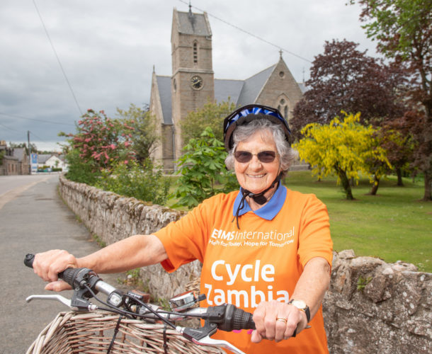 Plucky 80-year-old prepares for cycle challenge in Africa to help those in need