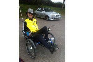 Richard adapts cycling to the trike