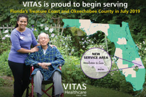 VITAS® Healthcare launches hospice and palliative care services in Florida's Treasure Coast and Okeechobee County.