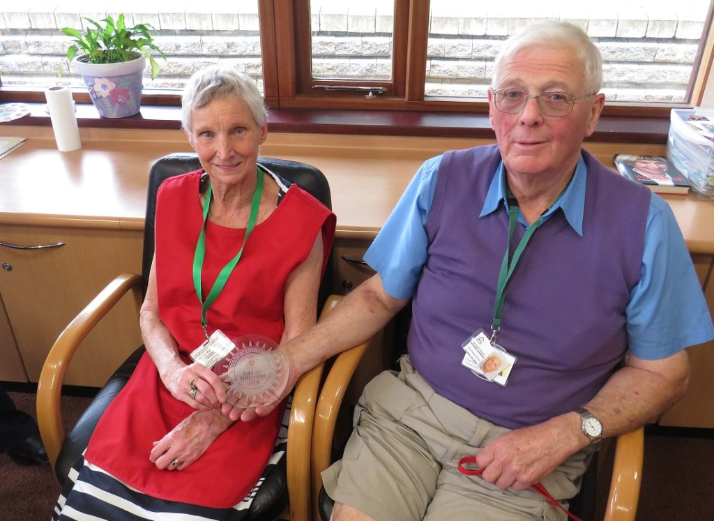 Springhill Hospice volunteers receive awards