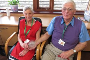 Carole and Roger Dawson with their award_