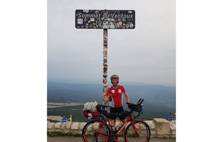 Fundraiser conquers Europe's toughest cycling challenge for hospice appeal