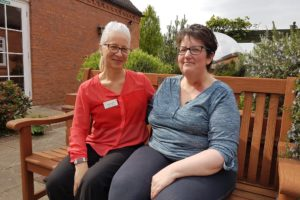 (l-r) St Giles nurse Katherine Hill with Charlotte Wittman_