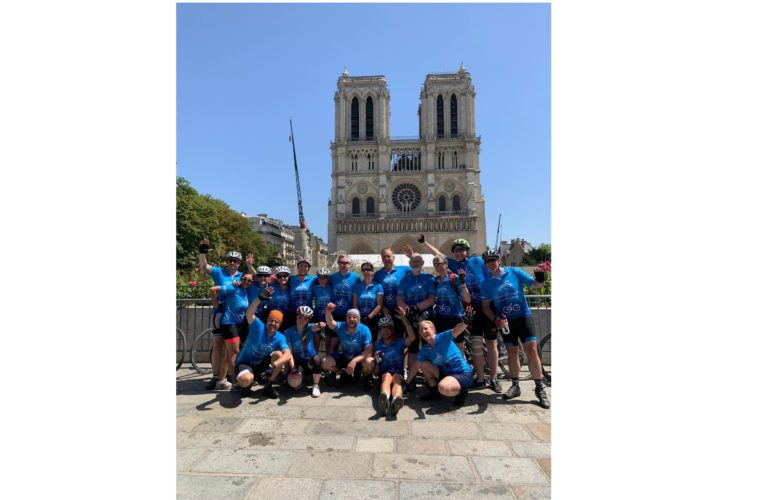 Milton Keynes to Paris cyclists raise over £20,000 for Willen Hospice