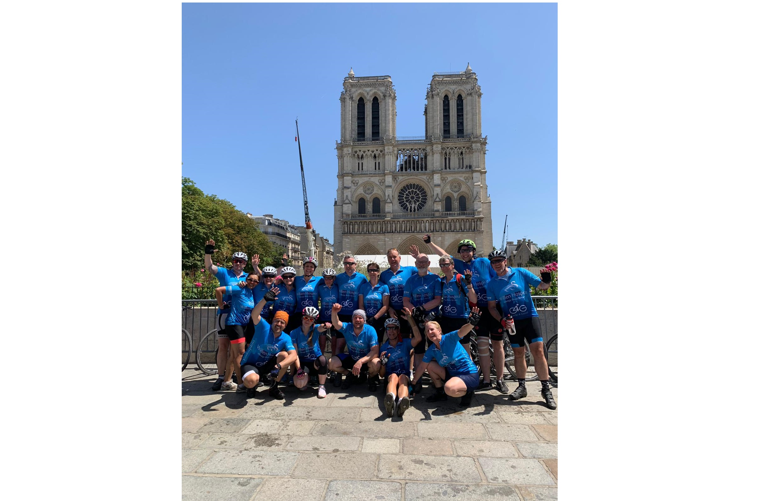 Milton Keynes to Paris cyclists raise over £20,000 for Willen Hospice