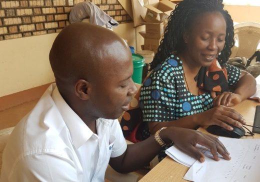Eve Namisango and caregiver