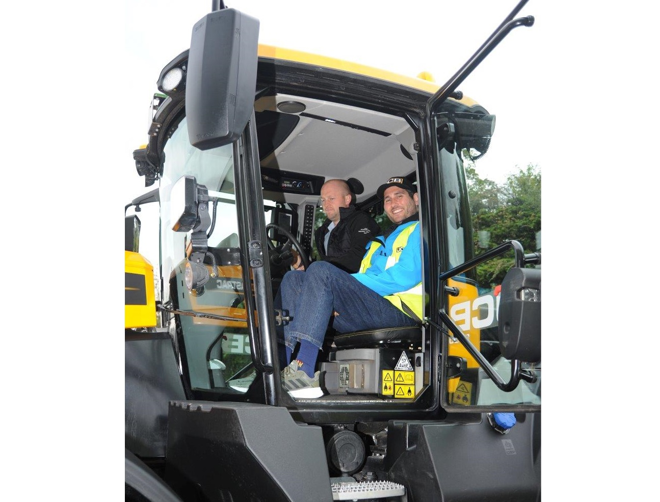Hospice patient fulfils bucket list wish of riding a JCB