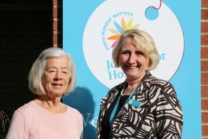 Sue Jones and Penny Venables at JohnTaylor Hospice - 600x400