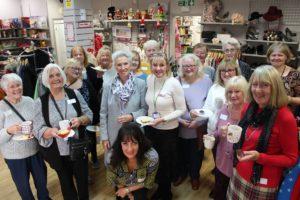Hadleigh Shop Volunteers - Spanish Margaret and Janet Evenden (centre)