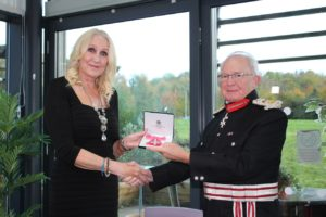 Jacci Woodcock receives MBE pic 2