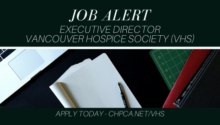 Job Alert - Executive Director - Vancouver Hospice Society (VHS)