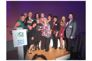 Transitions LifeCare's staff educator Connie Montgomery receives Lifetime Achievement Award at 2019 North Carolina Triangle Home Health and Hospice Awards.