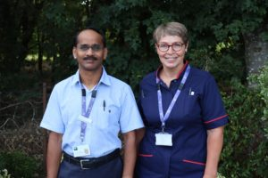 Dr Ramesh Thulavavenkateswaran and CNS Wendy Rogers St Helena Hospice