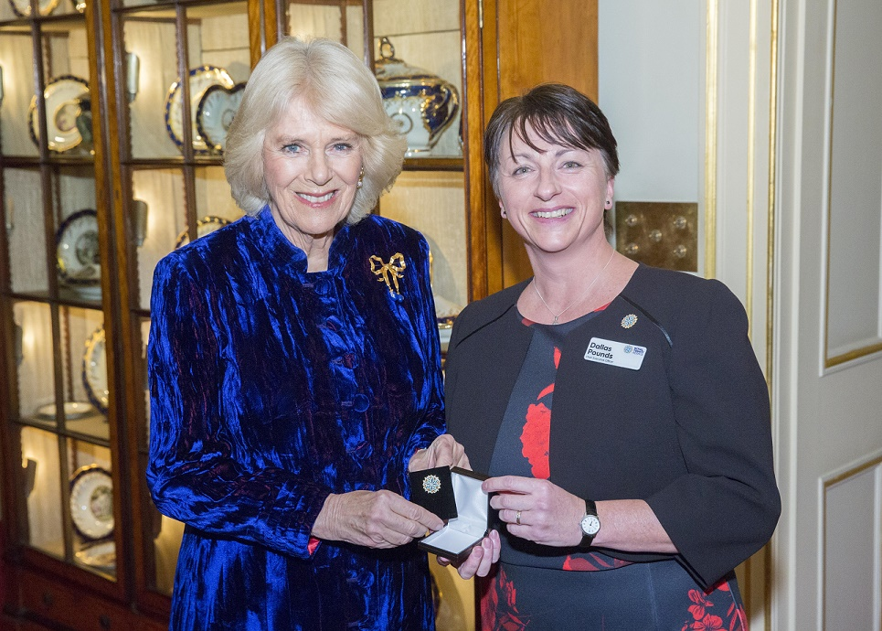 Duchess of Cornwall hosts royal reception for London hospice