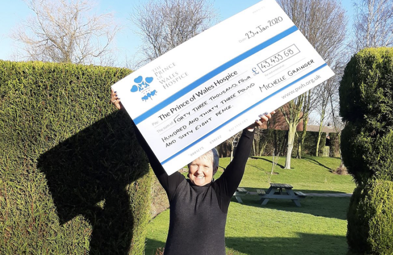 Fundraiser who embarked on fifty challenges in one year becomes hospice patron