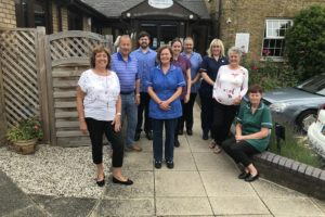 Staff outside Hospice