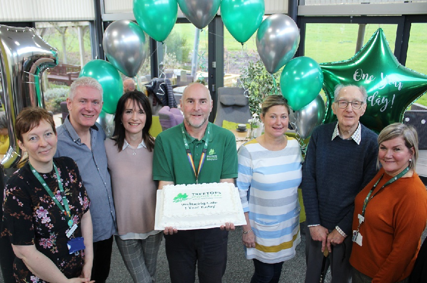 Treetops Hospice Wellbeing Café celebrates first birthday and launches MND support group