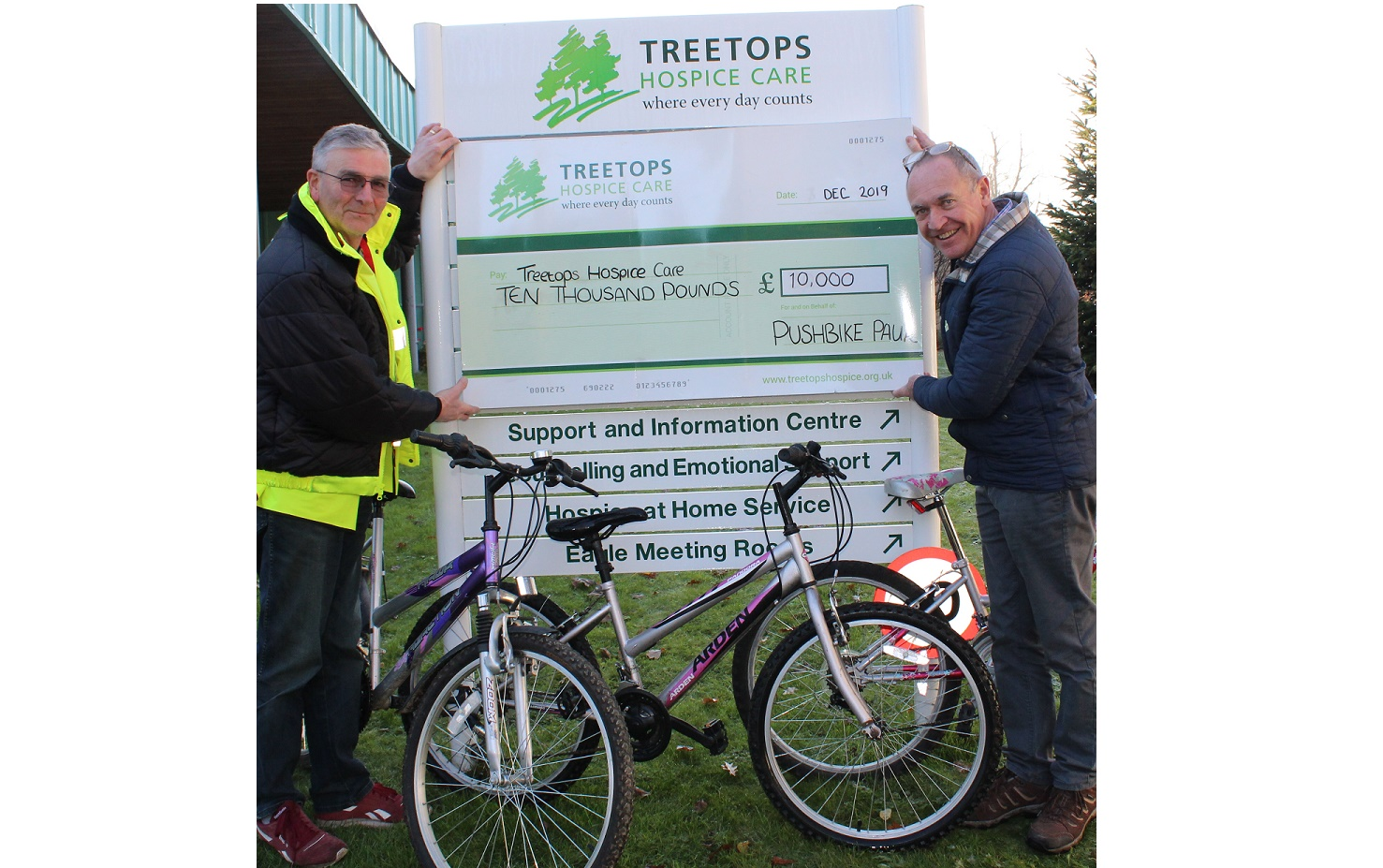 Volunteer raises £10k for hospice with bike recycling scheme
