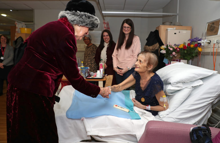 HRH Princess Alexandra visits Birmingham St Mary's Hospice for 40th anniversary