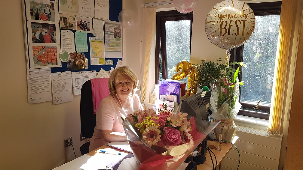 Fundraising manager celebrates 20 years at hospice