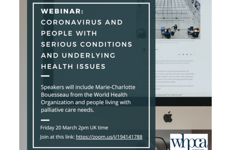 Webinar on coronavirus and people with serious conditions and underlying health issues