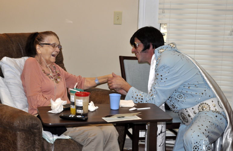 """Circle of Life Patient Meets the """"King of Rock and Roll"""""""