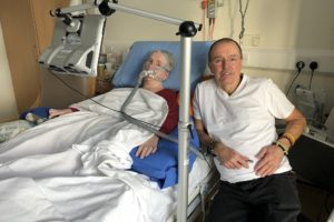Gill and Mark Atkinson at St Catherines Hospice Lancashire