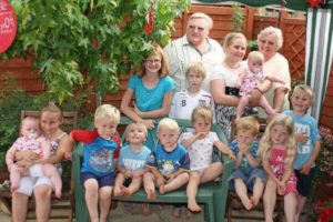 Mum and Dad and all of their grandchildren