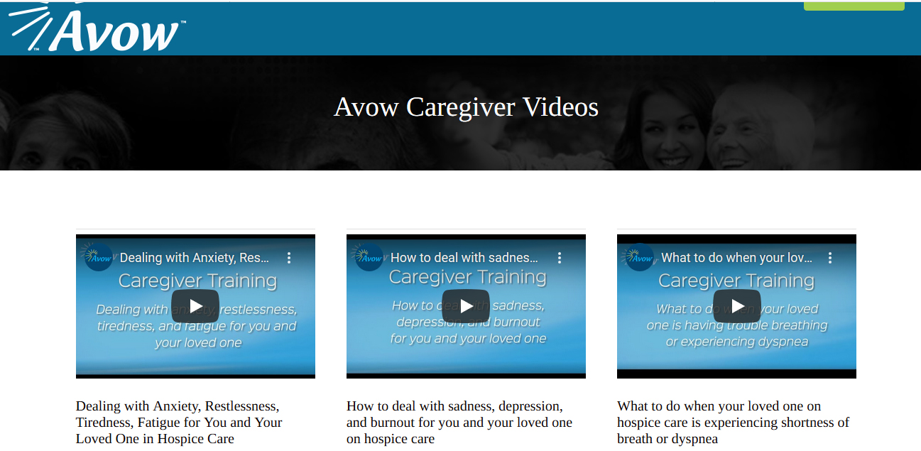 Avow Releases Free 'How-To' Videos for Caregivers of Hospice, Palliative Care Patients