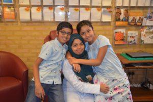 Nasreen with Sulaiman and Safiyya