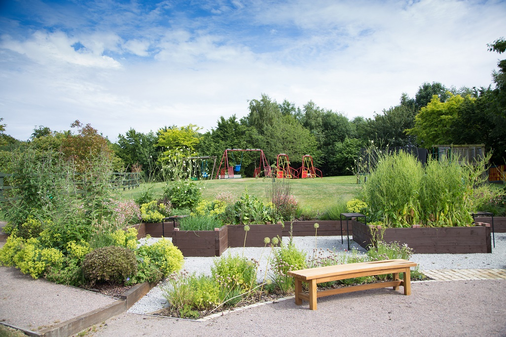Hospice opens up gardens to families in crisis